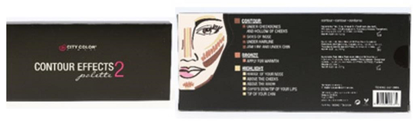 City Color Cosmetics Contour Effects Palette 2 Contour, Bronze, Highlight
